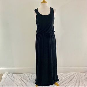 Planet Gold Black Sleeveless Maxi Dress Sz L